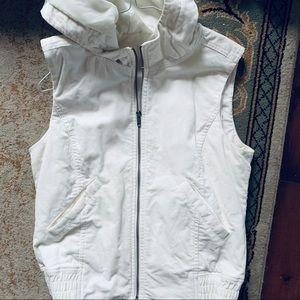 Ann Taylor White Corduroy Vest